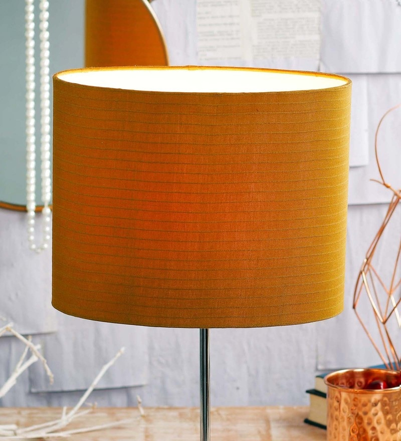 Buy pancham mustard fabric lamp shade by courtyard online meru ocher fabric lamp shade by courtyard aloadofball Image collections