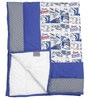 Cartoon Print Kids Quilt in Blue Colour by Cocobee
