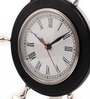 Black Aluminium 10 x 3 x 12 Inch Anchor Wheel Table Clock by Cocovey