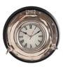 Cocovey Black Aluminium 12 Inch Round Porthole Wall Clock