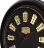 Black Wooden 15 Inch Round Vintage Wall Clock by Cocovey