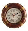 Cocovey Brown Wooden 8 Inch Round Life Tube Wall Clock