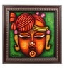 Canvas 16 x 2 x 16 Inch Shreenath Lord Handmade Framed Rajasthani Style Phad Painting by Cocovey
