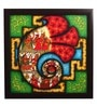 Canvas 24 x 2 x 24 Inch Ganesh Shree Yantra Handmade Framed Rajasthani Style Phad Painting by Cocovey