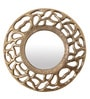 Gold Aluminium Round Decorative Mirror by Cocovey