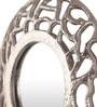 Silver Aluminium Round Decorative Mirror by Cocovey