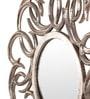 Cocovey Silver Aluminium Siver Designer Wall Mirror