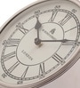 Cocovey Silver Steel 4 Inch Round Antique Table Clock
