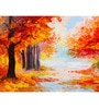 Hashtag Decor Colorful Autumn Forest Engineered Wood Art Panel