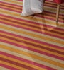Multicolour Cotton 138 x 48 Inch Stripe Shuttle Area Rug by Contrast Living