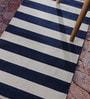 Contrast Living Multicolour Cotton 36 x 24 Inch Stripe Shuttle Area Rug
