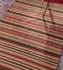 Contrast Living Multicolour Cotton 60 x 36 Inch Hand Woven Stripe Punja Dhurrie