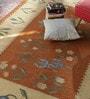 Contrast Living Multicolour Cotton 72 x 48 Inch Punja Dhurrie