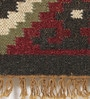 Multicolour Jute 78 x 54 Inch Printed Dhurrie by Contrast Living