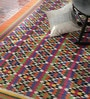 Multicolour Wool & Cotton 72 x 48 Inch Kilim Area Rug by Contrast Living