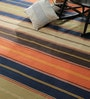Contrast Living Multicolour Wool & Cotton 78 x 54 Inch Over Dye Area Rug