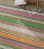 Contrast Living Multicolour Wool & Cotton 96 x 66 Inch Over Dye Area Rug
