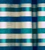 Cortina Blue Jacquard Premium Stripes Door Curtain- Set of 2