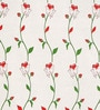 White & Red Satin Door Curtain - Set of 2 by Cortina