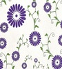 Cortina White & Violet Satin Door Curtain - Set of 2