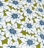 Cortina Green & White Cotton Floral 100 x 90 Inch Bed Sheet (with Pillow Covers)