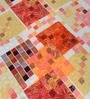 Orange Cotton Floral Double Bed Sheet Set (with Pillow Covers) by Cortina