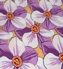 Cortina White & Purple Satin Floral 100 x 90 Inch Double Bed Sheet (with Pillow Covers)