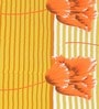 Premium Stripes Orange 100% Cotton Double Bed Sheet (with Pillow Covers) - by Cortina