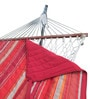 Cotton Rope Hammock with Steel Stand, Quilted Pad and Pillow by Hang It