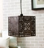Pushp Mahal Antique Hanging Lamp with White Texture shade by Courtyard
