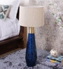 Neelkanth Table Lamp With Matka Silk Shade by Courtyard