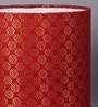 Courtyard Banarasi Red Fabric Lamp Shade