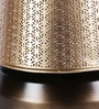 Swarsitar Brass Antique Table Lamp With Mogra Gold Shade by Courtyard