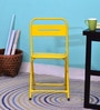 Marandoo Grunge Outdoor Folding Chair in Yellow Colour by Bohemiana