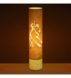 Craftter Dancing Couple Yellow Textured Floor Lamp