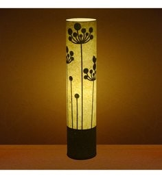 Craftter Flower Of Rounds White & Green Textured Floor Lamp