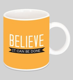 Crude Area Believe It Can Be Done Ceramic Mugs - Set Of 2