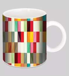 Crude Area Stripes Ceramic Mugs - Set Of 2