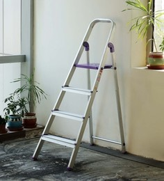 Crust Purple Aluminium 4 Steps 4.8 Ft Ladder