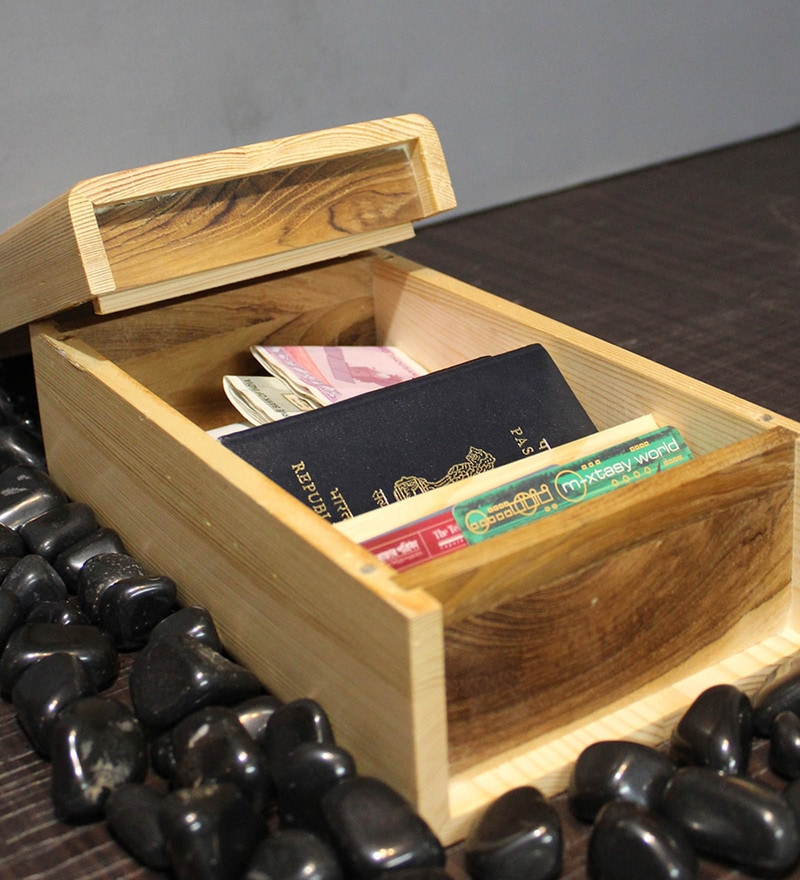 Craftlipi Pine Wood & Sagoon Wood Personal Asset Box