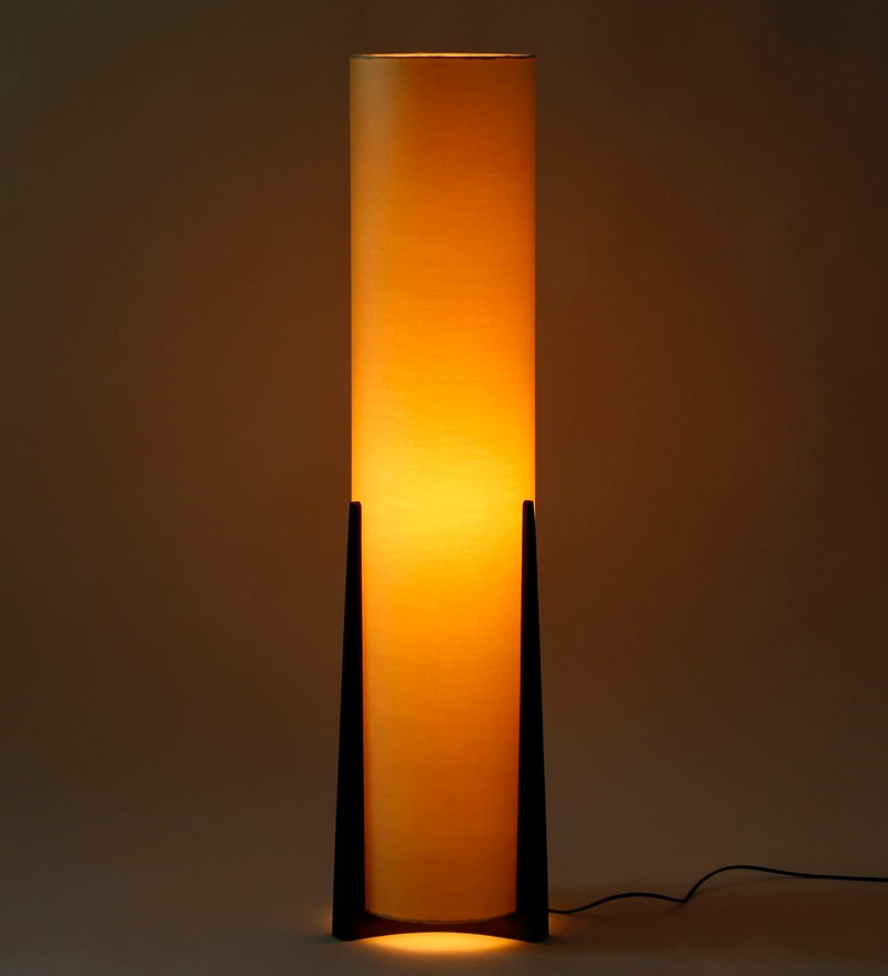 Gold Fabric Floor Lamp by Craftter