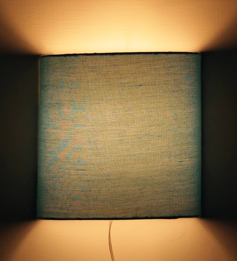 Buy traditional keri design red half shade fabric wall lamp by plain blue half shade fabric wall lamp by craftter aloadofball Gallery