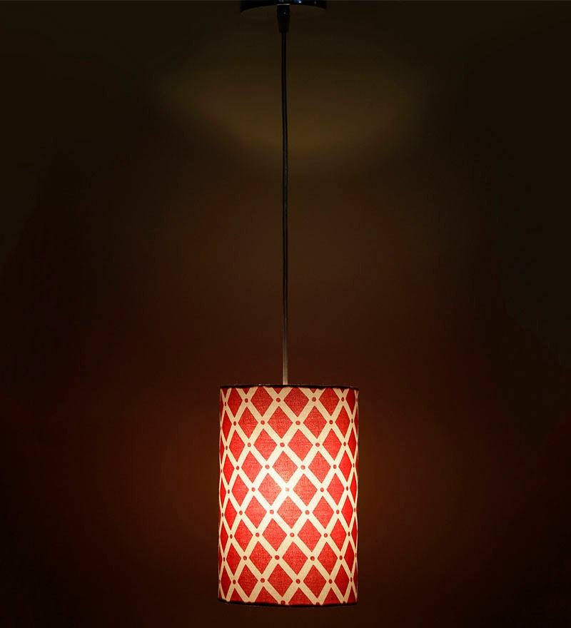 Squares White & Red 0.5W LED Hanging Lamp by Craftter