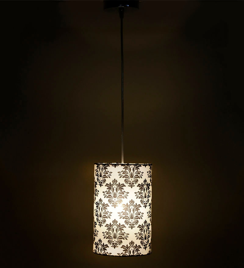 Booti White & Black 0.5W LED Hanging Lamp by Craftter
