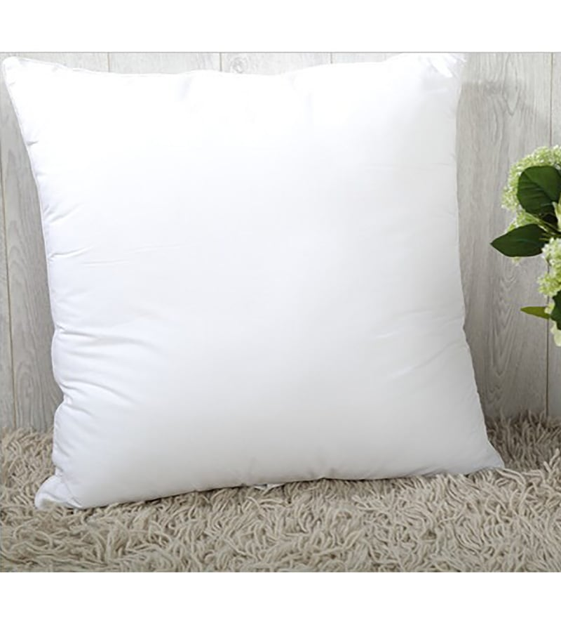 White Polyester 16 x 16 300 Gm Cushion Inserts by Creative Homez