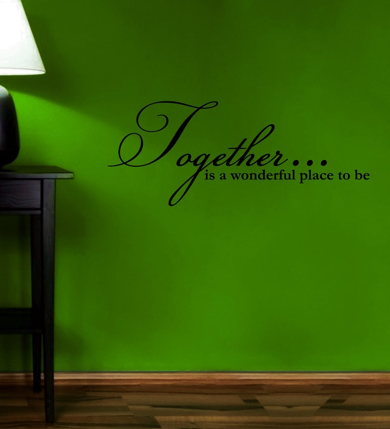 Vinyl A Wonderful Place One Wall Sticker in Black by Creative Width