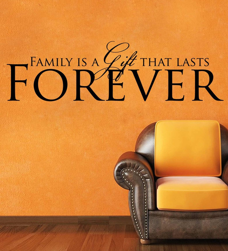 Vinyl Family Forever Two Wall Sticker in Black by Creative Width