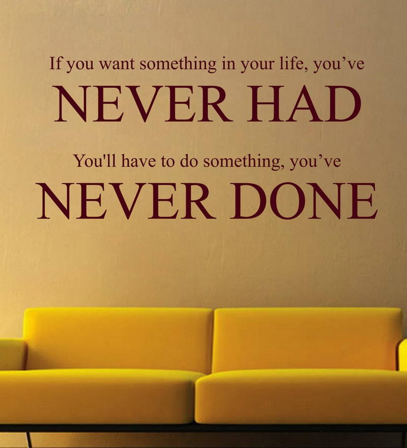Vinyl If You Want Something Wall Sticker in Burgundy by Creative Width