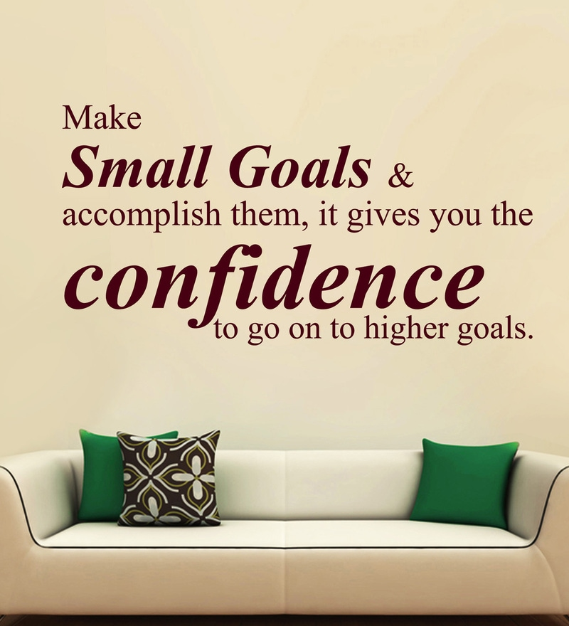 Vinyl Make Small Goals One Wall Sticker in Burgundy by Creative Width