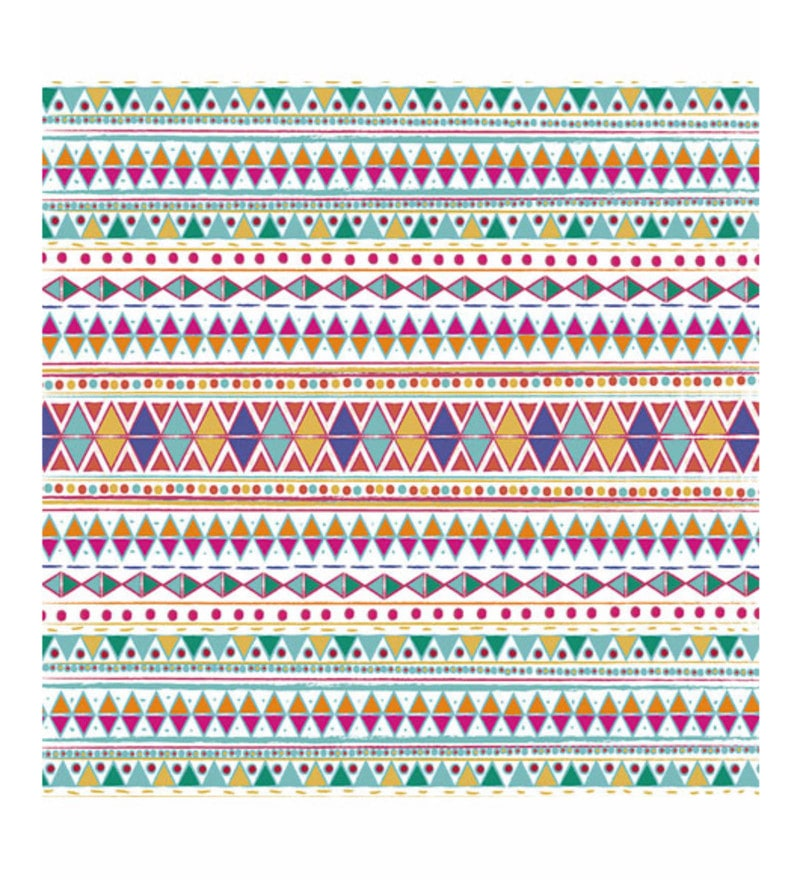 Paper 15 x 15 Inch Native Fiesta Print Unframed Poster by Crude Area